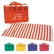 Beach Mat - Beach mat with inflatable pillow made of tubular polypropylene material.
