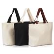 Large Cotton Canvas Beach Bag - 12 Oz. large cotton canvas beach bag with contrast cotton webbed handles.