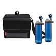 Coleman Chug & Chill Package - Coleman® set with two 24 oz. hydration bottles and an 18-can collapsible soft cooler; sold blank