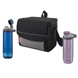 Coleman His & Hers Chug & Chill Package - Coleman® set with two 24 oz. hydration bottles and a 9-can collapsible soft cooler; sold blank