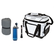 Coleman Essentials Package - Coleman® set with fleece sleeping bag, 36-hour marine cooler, BatteryGuard™ 50M LED flashlight and Chug bottle; sold blank