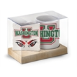 Ceramic Mug & Coaster Gift Set - Beautiful white mugs featuring comfortable C-shaped handles and superior quality.