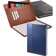 Duo-Textured Tuscany™ Padfolio - Soft faux leather tablet padfolio.