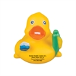 "Dental Duck - 3 1/2"" yellow rubber duck with dental theme."