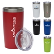 "Stormy 20 oz. Double Wall Stainless Steel Tumbler - 3.62"" x 7.44"" x 3.62"" acrylonitrile styrene and stainless steel 20-ounce tumbler with lid. FDA compliant and BPA free."