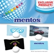 Individually Wrapped Mentos Mints - Individually wrapped Mentos mints with an assorted selection of wrappers and ink colors.