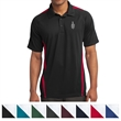 Sport-Tek PosiCharge Micro-Mesh Colorblock Polo - 100% polyester polo with colorblocking snag and odor resistance, moisture wicking, and PosiCharge technology.