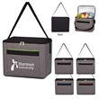 "Heathered Kooler Bag - Cooler tote made of polyester with foil laminated polyethylene foam insulation, large front pocket and 22"" carry handle"