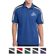 Sport-Tek Tricolor Shoulder Micropique Sport-Wick Polo - Polo with a 3-button placket, Sport-Wick technology, and polyester mesh inserts at the shoulders and sleeves.