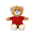 """Chelsea™ Plush Hey Buddy™ Bear - 12"""" plush stuffed teddy bear with t-shirt or bandana and embroidered heart accent on both palms."""