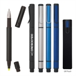 Dual Function Pen With Highlighter - Dual function metal highlighter with chisel tip and ballpoint pen with black ink.