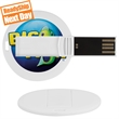 "Round Laguna USB Flash Drive (Domestic) - USB round flash drive. Dimensions: 1.73"" x 1.73"" x 0.12"""