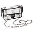 Clear Cross Body Handbag - Clear PVC handbag that can be worn across the body.