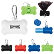 Doggy Bag Dispenser - This bone shaped poop bag dispenser includes 20 disposable .0007mm PE starter bags packed inside.
