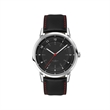 Unisex Watch Unisex Watch - Customizable watch with a sleek 42mm polished brushed silver and black metal case and natural leather straps.