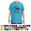 Jerzees® Youth Dri-Power® Active T-Shirt - Preshrunk 50% Cotton/50% Polyester Jersey, 5.6 oz  Youth T-Shirt.