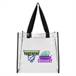 """Basic Clear Open Tote - 12"""" x 12"""" x 6"""" clear tote that complies with new NFL and PGA security bag requirements and has 1"""" wide handles"""