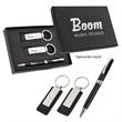 Executive Pen And Leatherette Key Tag Box Set - Box set with pen and leatherette key tag