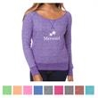Independent Trading Company Junior's Off-The-Shoulder Fre... - Junior's off-the-shoulder French terry crew with an off-shoulder neckline and cover stitched raglan armholes.