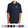 Port & Company Youth Core Blend Jersey Knit Polo - Youth jersey knit polo with 5% recycled polyester from plastic bottles and a soil-release finish.
