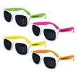 White Frame Kids Classic Neon Sunglasses - Plastic sunglasses for kids with an assortment of neon colors and UV400 lenses.