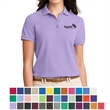 Port Authority  Ladies' Silk Touch Polo - Ladies silk touch polo made of polyester and cotton pique with superior wrinkle and shrink resistance.