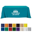 Flat Poly/Cotton 4-sided Table Cover - fits 8' table - 4-sided poly/cotton table cover