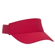 UPF 50+ Cool Comfort Performance Stretchable Knit Sun Visor - 6-panel UPF 50+ cool comfort performance and stretchable sun visor with matching sweatband and buckle closure.