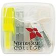 OFFICE ON THE GO - Highlighter/Tape/Stapler Pack - Office supply kit with mini-stapler, tape dispenser and yellow Dri Mark® Mini Max highlighter.