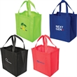 """Non-Woven Economy Tote with 8"""" Gusset - The non-woven 90 gram polypropylene tote has a removable bottom base for extra support."""