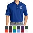 Nike Tall Dri-FIT Micro Pique Polo - Tall micro pique polo with Dri-FIT moisture management, a flat knit collar, three-button placket, and open-hem sleeves.