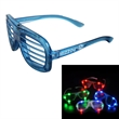 Light Up Slotted Glasses - Embrace the latest hip trends with these stylish customizable light up shutter sunglasses!