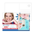 """Post Card with Credit Card Style Dental Floss with Mirror - Customizable 6"""" x 4"""" direct-mail postcard with credit card-style dental floss and mirror in PVC pouch."""