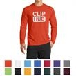 Port & Company Long Sleeve Performance Blend Tee - Men's 4.5 oz. performance blend long-sleeve tee made from 65/35 polyester/cotton with hemmed cuffs