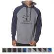 Independent Trading Company Men's Raglan Hooded Pullover ... - Slim fit men's raglan hooded pullover with a jersey-lined hood featuring nickel eyelets and a flat drawcord.