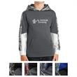Sport-Tek Youth Sport-Wick Mineral Freeze Fleece Colorblo... - Youth color blocked hoodie with moisture-wicking, anti-static fabric and a Mineral Freeze print on the hood and sleeves.