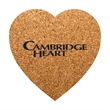 """Heart Shaped Cork Coaster - Durable, absorbent coasters protect tabletops and desktops from cup rings. Constructed from 1/8"""" thick natural cork material."""