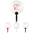 Plastic Hand Fan - Plastic hand fan with large imprint area.