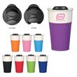 13 Oz. Ceramic Mug With Silicone Sleeve - 13 oz. ceramic mug with silicone accent.