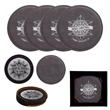 Leatherette Coaster Set - Customizable four-piece leatherette coaster set, available with various imprints to choose from.