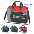 Wave Non-Woven Briefcase/Messenger Bag - Briefcase/bag with adjustable shoulder strap and web carrying handle.