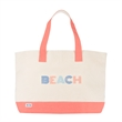 Icon Resorter Tote - Canvas made tote bag with an interior hanging zip pocket and Beach pattern detailing.