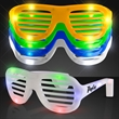 Promotional light up slotted sunglasses - Blank or imprinted. Promotional light up slotted sunglasses.