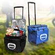 Creswell 48-CAN ROLLING COOLER - Fully insulated, zippered compartment 24 can cooler with adjustable shoulder strap.