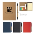 MeetingMate Notebook With Pen And Sticky Flags - MeetingMate Notebook With Pen And Sticky Flags Matching Pen Has Paper Barrel Sticky Flags In 5 Neon Colors Four Card Holders