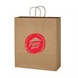 "Kraft Paper Brown Shopping Bag - 16"" x 19"" - 16"" x 19"" shopping bag made from Kraft paper."