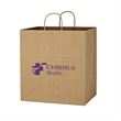 """Kraft Paper Brown Shopping Bag - 14"""" x 15"""" - 14"""" x 15"""" paper bag with 10"""" gusset."""