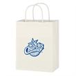 "Kraft Paper White Shopping Bag - 8"" x 10-1/4"" - 8"" x 10 1/4"" shopping bag made from white Kraft paper."