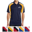 Sport-Tek Tricolor Micropique Sport-Wick Polo - Tricolor micropique polo made of 100% polyester tricot with mesh insets at the shoulders, sleeves, and lower sides.