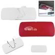 Refillable Visor Tissue Holder - ABS plastic refillable tissue holder with back hook to fit on car visors.